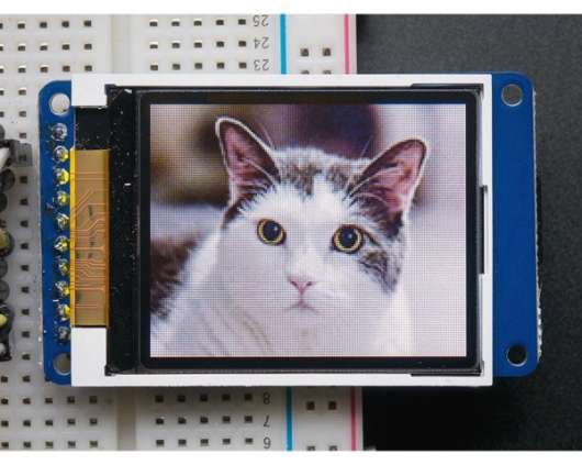 Adafruit 1.8 Color TFT LCD display with MicroSD Card Breakout - ST7735R
