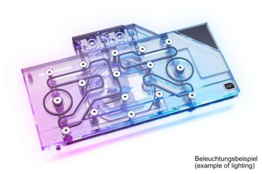 AlphaCool Eisblock Aurora acrylic med backplate (Ampere referens)
