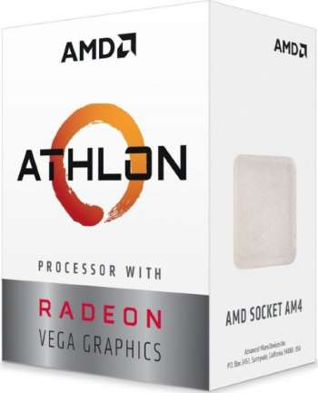 AMD Athlon 200GE / Dual Core 4-Thread / 3.2GHz / 35W TDP / Vega 3 Graphics
