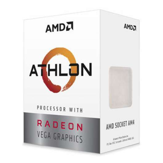 AMD Athlon 220GE / Dual Core 4-Thread / 3.4GHz / 35W TDP / Vega 3 Graphics