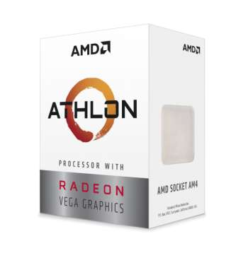 AMD Athlon 3000G / Dual Core 4-Thread / 3.5GHz / 35W TDP / Vega 3 Graphics