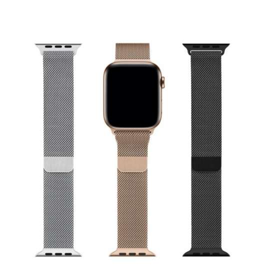 Apple Milanesisk loop till 42/44 mm Apple Watch Svart