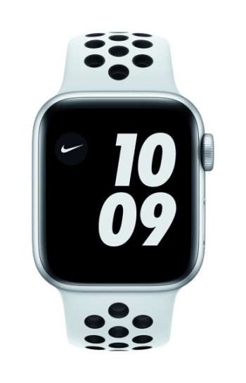Apple Watch Nike SE - 40mm / GPS / Silver Aluminium Case / Pure Platinum Black Nike Sport Band