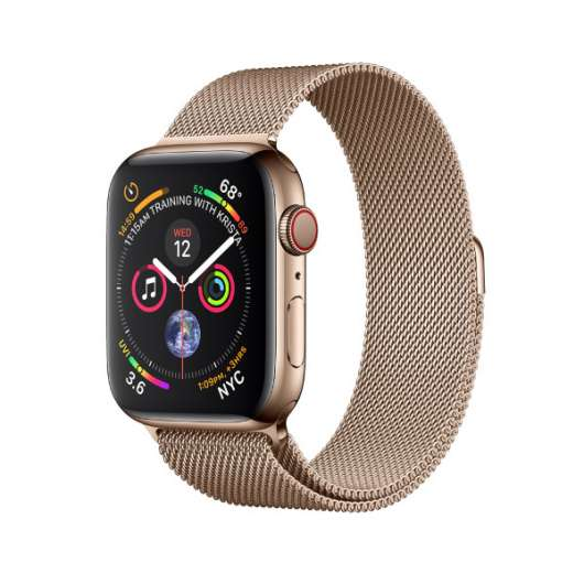 Apple Watch Series 4 GPS + Cellular, 44mm Gold Stainless Steel Case with Gold (Fyndvara - Klass 1)