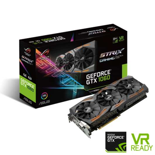 ASUS GeForce GTX 1060 STRIX 6GB GAMING (STRIX-GTX1060-6G-GAMING) (Fyndvara - Klass 1)