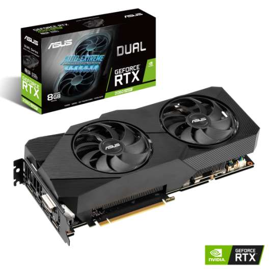 ASUS GeForce RTX 2060 Super 8GB DUAL EVO V2 (Fyndvara - Klass 1)