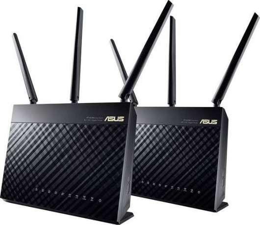 ASUS RT-AC68U AiMesh AC1900 WiFi-system / Gigabit Ethernet - 2-pack