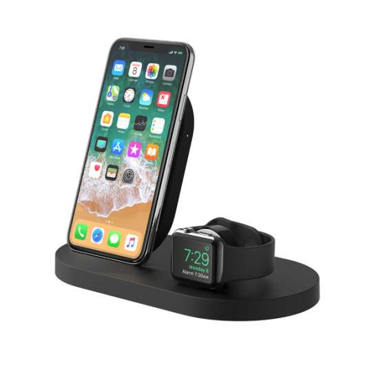 Belkin Trådlös Laddare  iPhone / Apple Watch / 1x USB-A - Svart