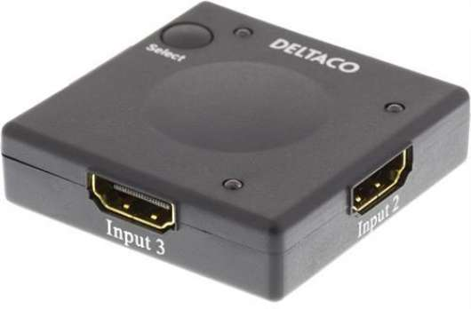 Deltaco HDMI Switch 3 input - 1 ouput