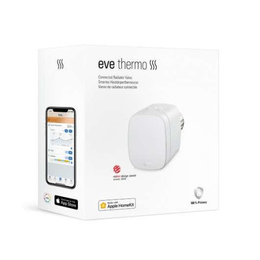Eve Thermo fungerar med Apple HomeKit