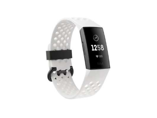 Fitbit Charge 3 Special Edition - Frost White Sport with NFC