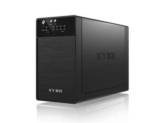 "ICY BOX IB-RD3620SU3 HDD Chassi 2-Bay, 2x 3,5 HDD"", SATA, RAID 0-1, Hot Swap, Plug & Play, 1x USB 3."