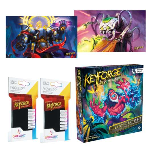 KeyForge Mass Mutation Two Player Starter Set Deluxe Bundle 2