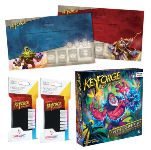 KeyForge Mass Mutation Two Player Starter Set Deluxe Bundle