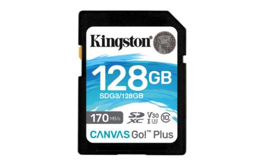 Kingston Canvas Go Plus SDXC - 128GB / UHS-I U3 / V30