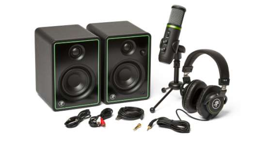 Mackie Creator Bundle | CR3-X monitors, EM-USB condenser mic, and MC-100 headphones