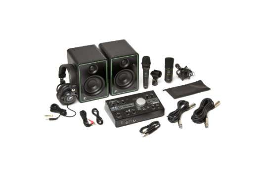 Mackie Studio Bundle | CR3-X monitors, Big Knob Studio monitor controller/interface, MC-100, EM-91C,