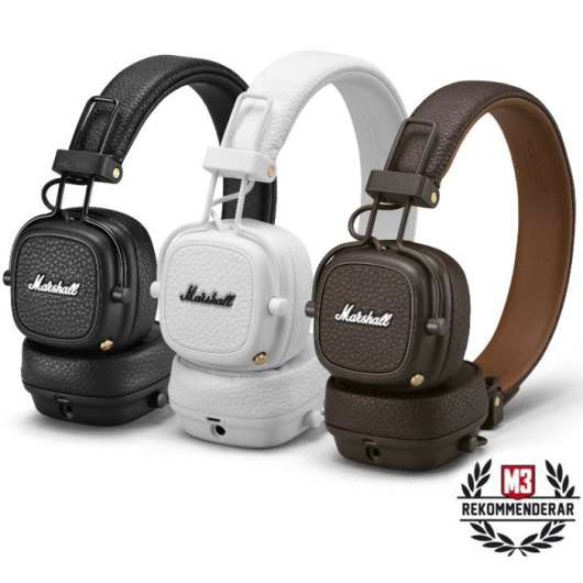 Marshall Major III Bluetooth-headset Vit