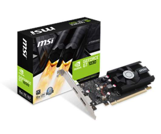 MSI GeForce GT 1030 2G LP OC (GeForce GT 1030 2G LP OC) (Fyndvara - Klass 1)