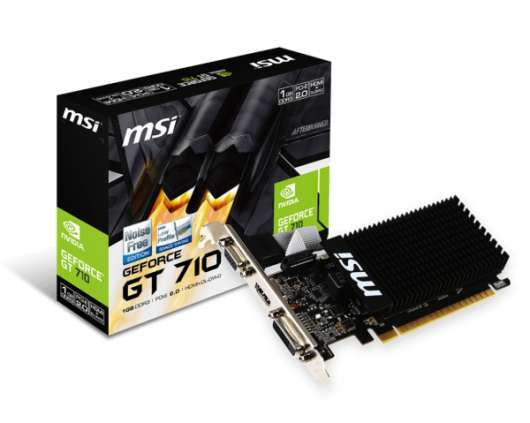 MSI GeForce GT 710 1GB (GT 710 1GD3H LP) (Fyndvara - Klass 1)