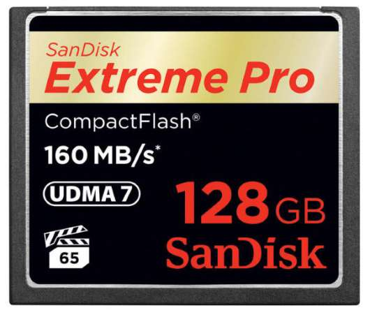 SanDisk Extreme Pro CF - 128GB / 160MB/s