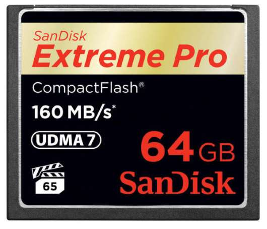 SanDisk Extreme Pro CF - 64GB / 160MB/s