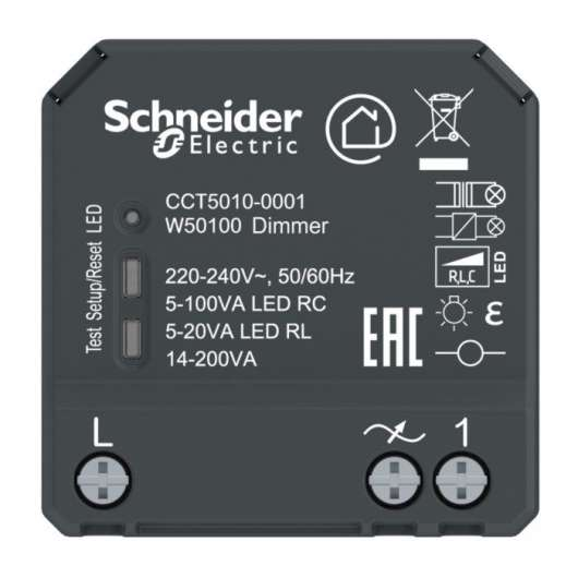 Schneider Electric Wiser Infälld Bluetooth-dimmer