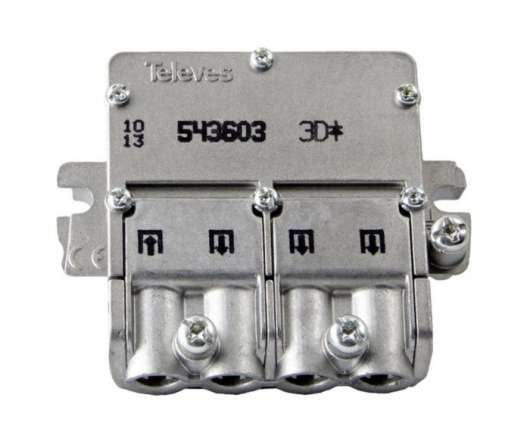 Televes Easy-F mini F-splitter 3-vägs